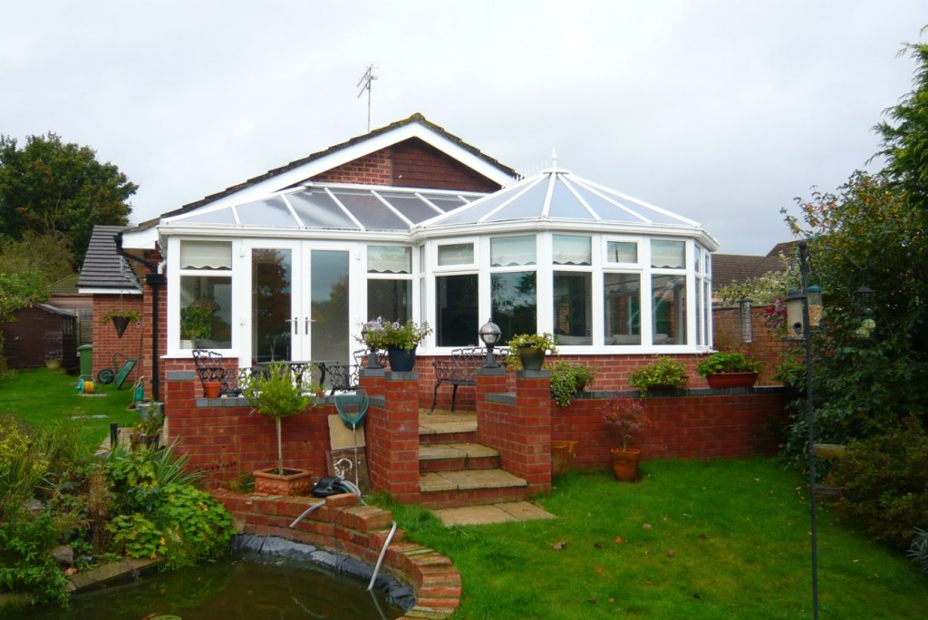 Front view of P-shape conservatory