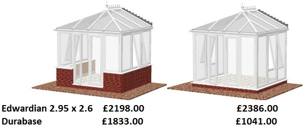 edwardian diy conservatory prices