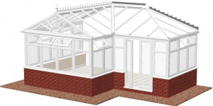 Gable end P-shape DIY Conservatories