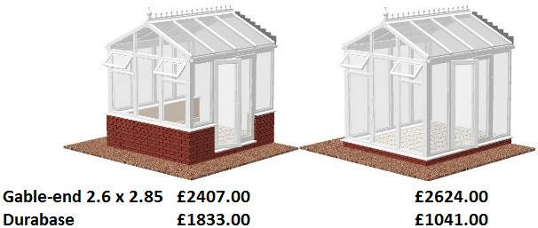 Gable End conservatory prices