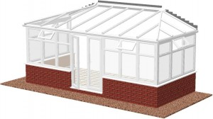 Hipped Lean-to conservatory