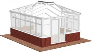 L-shape Lean-to conservatory