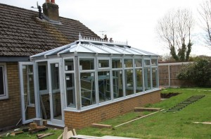 Orangery roof cladding installed