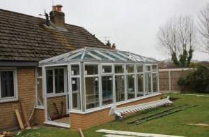 Orangery roof glazing installed
