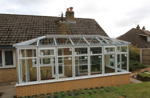 Orangery roof structure installed