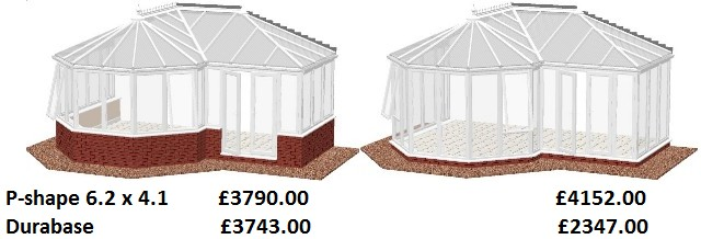 P-Shape conservatory prices