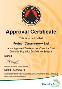 Trading Standards member certificate