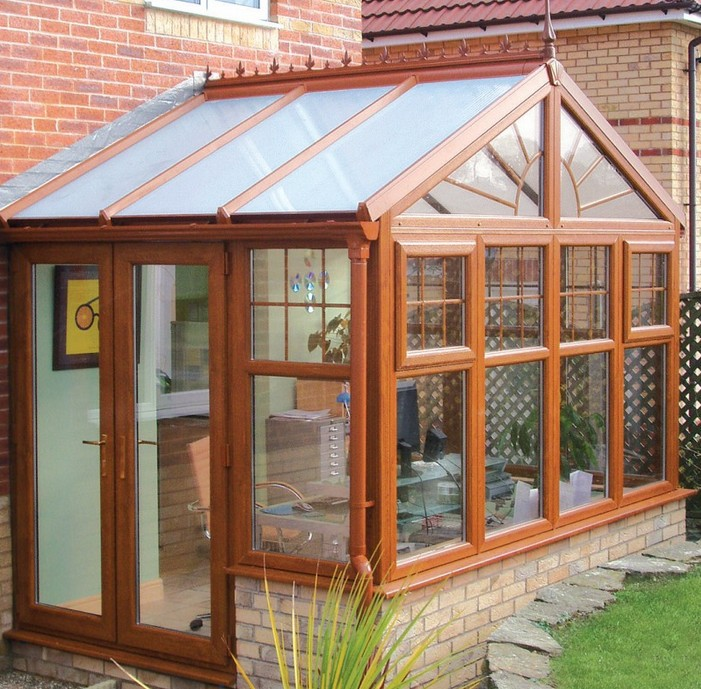diy light oak gable end conservatory