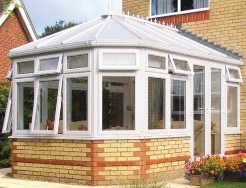diy wide front Victorian conservatory