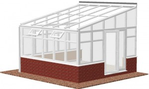 high-pitch Lean-to conservatory