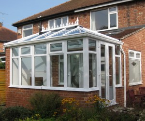 Hipped Edwardian with full height side wall