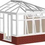 install the roof ridge and spas into predrilled holes
