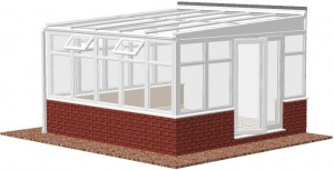 low-pitch Lean-to conservatory