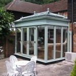 Orangery lanterns and chartwell green frames