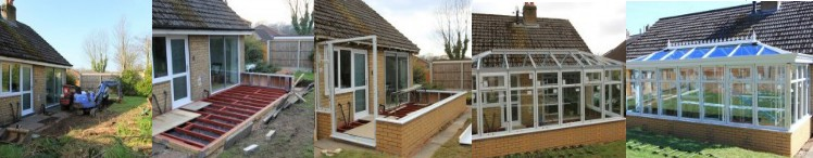 sequence of build for a diy self build orangery