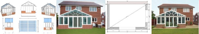 various CAD drawings for diy conservatory