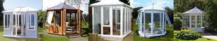 various diy self build garden rooms